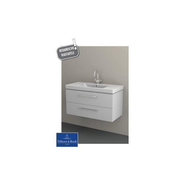 Riho Ensemble meuble & lavabo Altare Set 32 en bois laqué brillant 100x47 x H56,5 cm