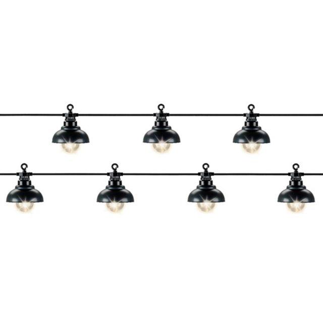 JARDIDECO Guirlande lumineuse 10 Led style industriel - Blanc chaud