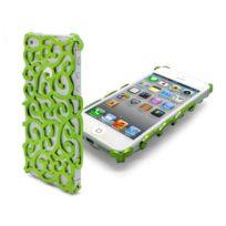 Caseink - Coque iPhone 5 / 5S / Se Baroque Design Verte