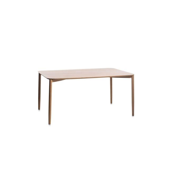 Conmoto Table rectangulaire Mito - Chêne nature - 220 x 100 cm