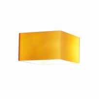 Kosilum - Lampe opaline ambrée rectangle - Pacifist