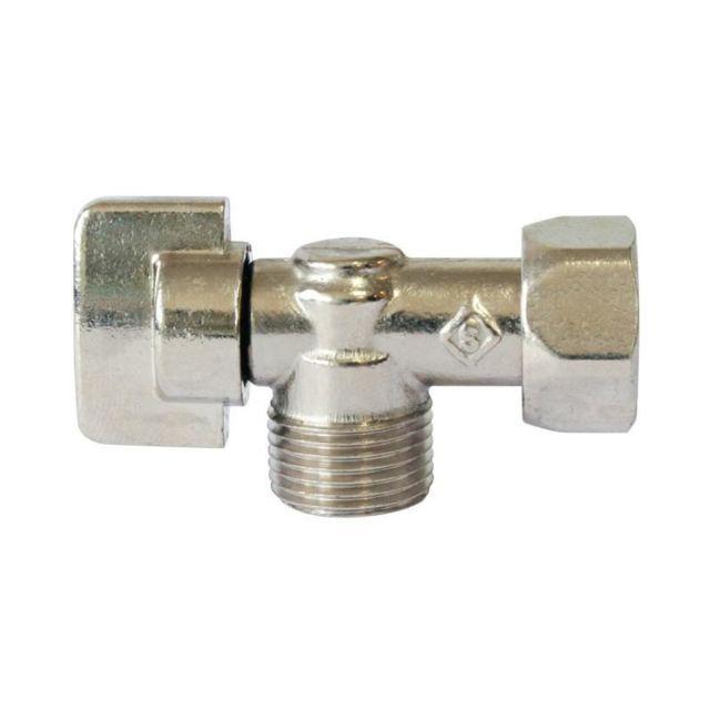 somatherm - robinet wc - Équerre 1/4 de tour - laiton - nickelé Ø 3