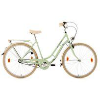 Ks Cycling - Vélo de ville femme 28'' 3 vit. Casino vert tilleul Tc 54 cm