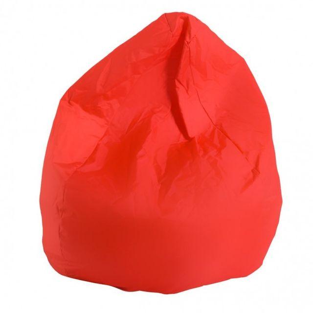 Mobili rebecca pouf poire fauteuil rouge confortable for Puff arredo