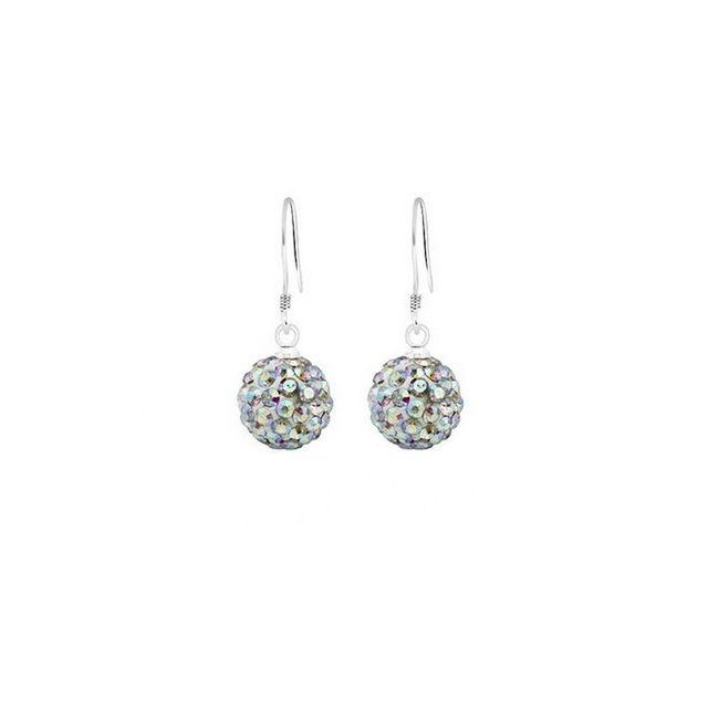 meilleur service 4252c 7abf7 Boucles d'oreilles cristal shamballa brillant Ab diamant crochet