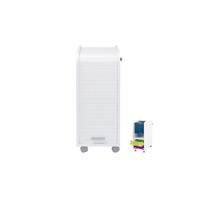 Caisson de bureau professionnel 45x57 cm coloris blanc