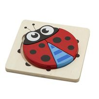 New Classic Toys - 0520 - Mini Puzzle En Bois - Coccinelle