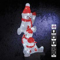 Sans Marque - Décoration de Noël d'extérieur Lumineuse - Bonhommes de neige