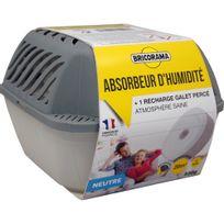 Bricorama - Absorbeur d'humidité médium + 1 recharge galet de 500 gr neutre 100382008