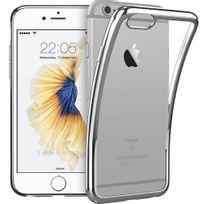 Cabling - Coque iPhone 6 / 6s Gris - Coque effet Métallisé, Transparente, Fine, Antidérapante - housse étui coque de protection antichoc pour Apple iPhone 6 et iPhone 6s