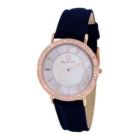 black oak montres bleu pour femme bx8900r 801 promo achat vente montre analogique pas. Black Bedroom Furniture Sets. Home Design Ideas