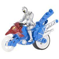 Bandai - Power Rangers Moto Cascade + Figurine 12 cm Argent