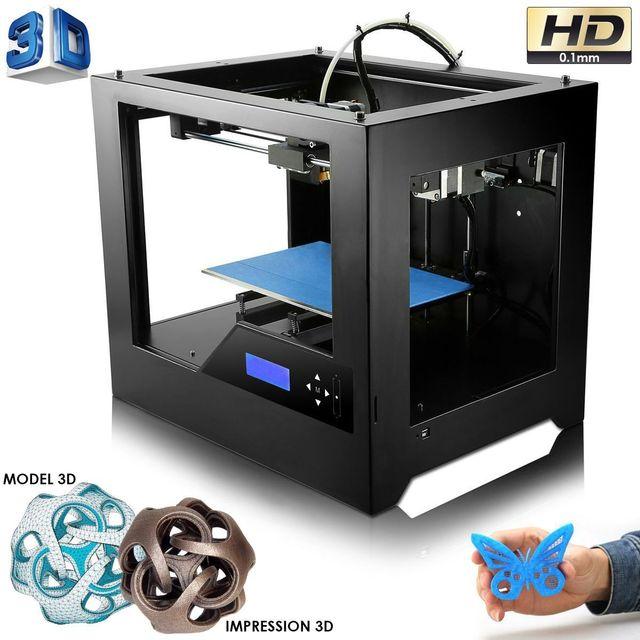 Yonis Imprimante 3D haute précision en métal conception Abs Pla noir