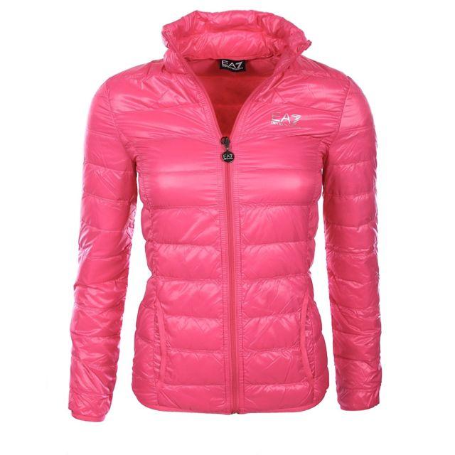 Armani - Ea7 - Armani Running - Doudoune légère rose femme 8NTB13 Tn12Z dc0895d81aa