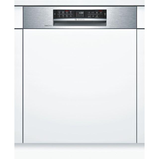 Bosch lave-vaisselle 60cm 13c 44db a+++ intégrable avec bandeau inox - smi68is00e