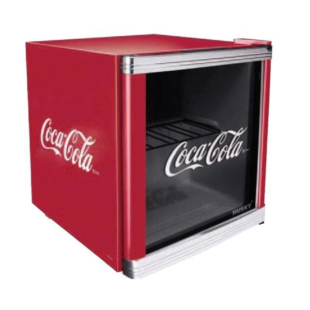 Husky Superbe Réfrigérateur publicitaire Coca Cola Cube - Contenance 50 l
