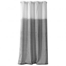 marque generique rideau 140 x h240 cm romantique dentelle gris pas cher achat vente. Black Bedroom Furniture Sets. Home Design Ideas