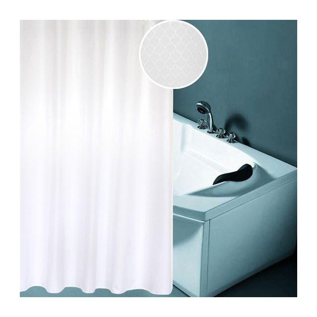 wewoo rideau de douche blanc paississement imperm able l 39 eau et de moisissure texture nid d. Black Bedroom Furniture Sets. Home Design Ideas