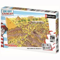 Nathan - Puzzle 250 pièces Xxl : Où est Charlie ? Au temps des pharaons