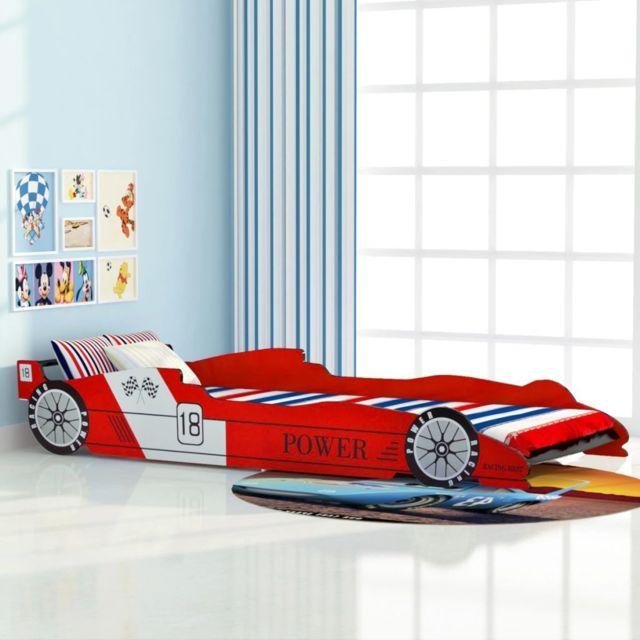 Inedit Mobilier pour bébés et tout-petits selection Tokyo Lit voiture de course pour enfants 90 x 200 cm Rouge