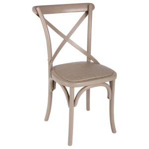 Atmosphera chaise de bistrot lusel taupe pas cher for Chaise zons