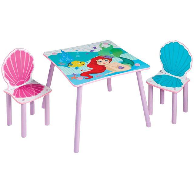 Ensemble table et 2 chaises Princesse Ariel Disney