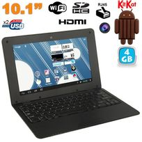 Yonis - Mini Pc Android ultra portable netbook 10 pouces WiFi 4 Go Noir