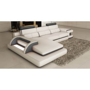 Canape D Angle En Cuir Blanc Awesome Canap Duangle Convertible