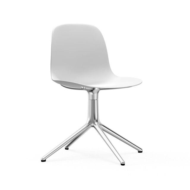 Normann Copenhagen Chaise pivotante Form - blanc - aluminium