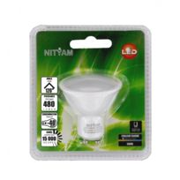 Nityam - Ampoule Led Spot Gu10 6W 480 Lumens - Couleur Chaude 3000K - Classe énergétique A