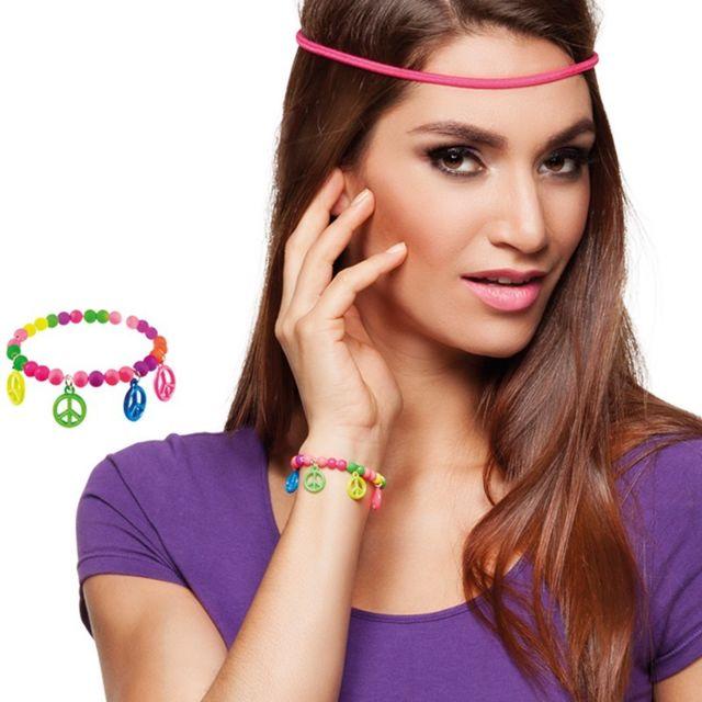 44c0476587 GÉNÉRIQUE - Bracelet Hippie Fluo Adulte - pas cher Achat / Vente ...