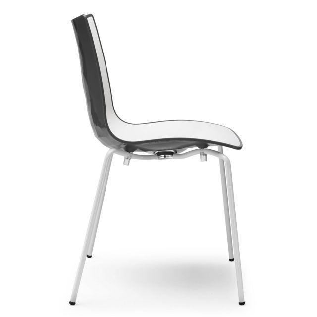 Chaise Vanity Design Par Scab: Chaise Design Avec Pieds Blanc