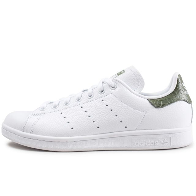 dde947fe70393 Adidas originals - Stan Smith Blanche Et Vert Foncé - pas cher Achat ...