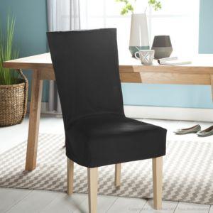 comptoir des toiles housse de chaise unie courte 100. Black Bedroom Furniture Sets. Home Design Ideas