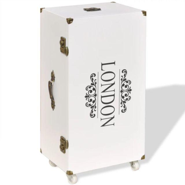 Icaverne - Bouts de canapé famille Armoire latérale 40 x 30,5 x 81 cm Blanc