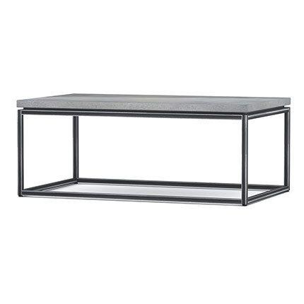 Table basse 100x60x40cm métal et béton - Ray