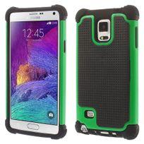 Kabiloo - Coque Hybrid Duo Vert pour Samsung Galaxy Note 4