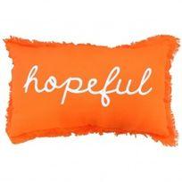Marque Generique - Coussin rectangulaire Hopeful Orange