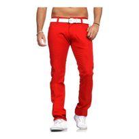 Rerock - Pantalon chino homme 3354 Rouge