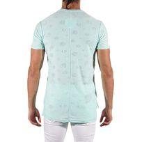Tee Shirt léger destroy Homme Paris 88171156, Taille: Xl, Couleur: Vert