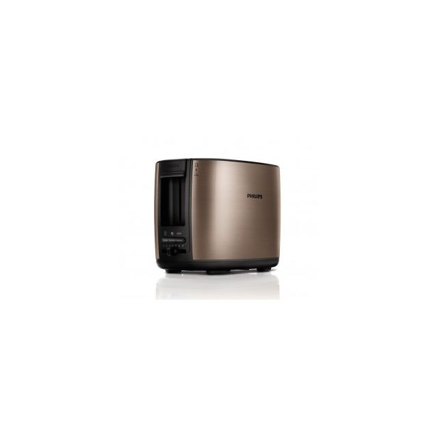 Philips Grille pain 2 fentes - 950W Métal Brun/Noir Hd2628-70
