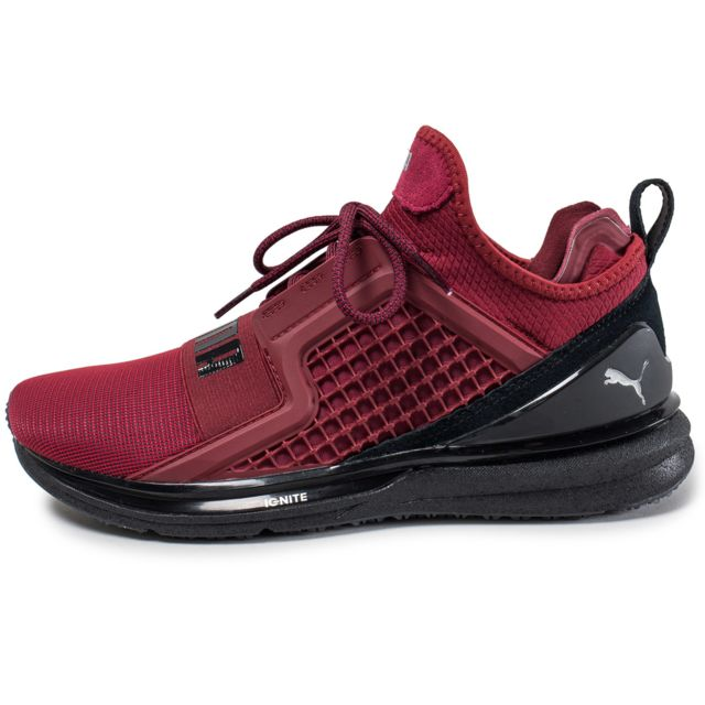 Achat Puma IGNITE Limitless Baskets basses Homme Rouge