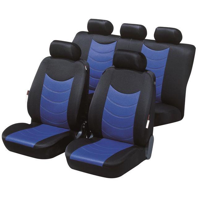 Générique housses de siège auto felicia bleu noir pour toyota corolla fx compact 1984 1988