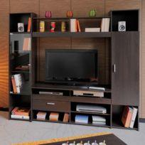 - Meuble Tv - Décor Café - L191xP43xH180cm Opale