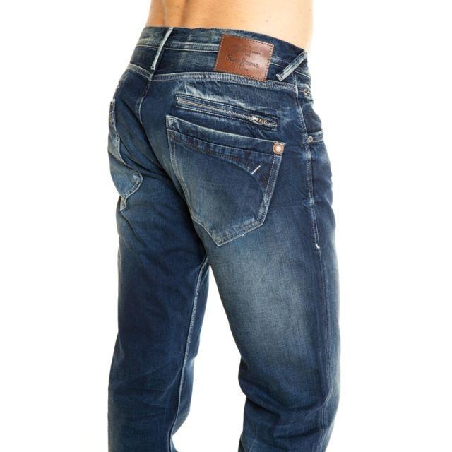 a82894006a8 Pepe Jeans - Jean Hoxton denim   134 - pas cher Achat   Vente Jeans homme -  RueDuCommerce