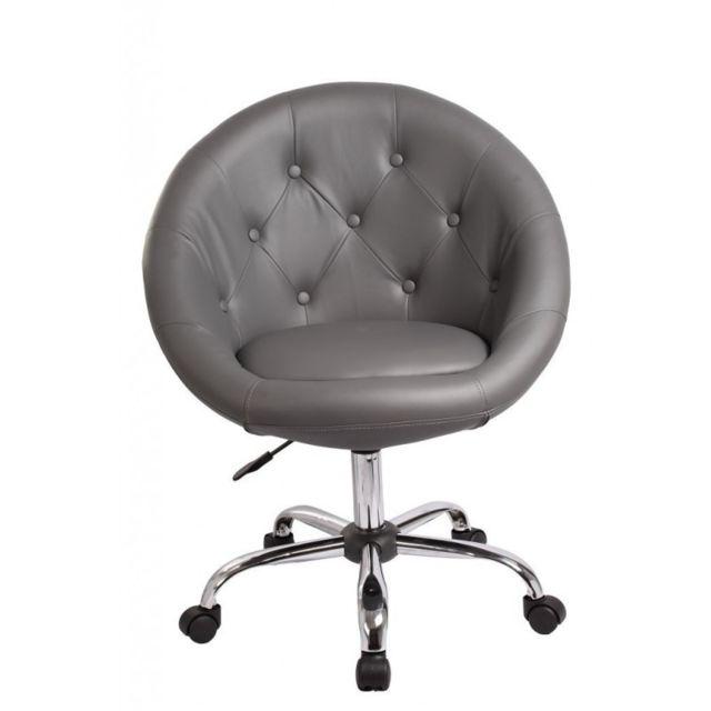 Decoshop26 Fauteuil à Roulette Cuir Pu Tabouret Chaise De Bureau
