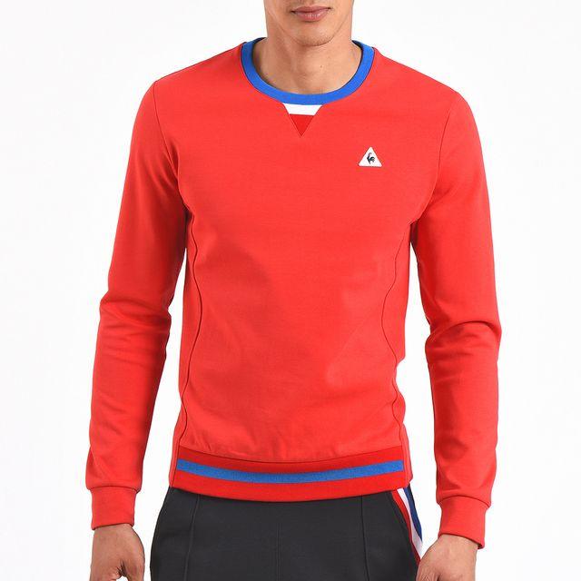 Lecoq Sportif - Sweat-shirt Le Coq Sportif Crew Sweat n°2 Rouge ... 35743d7686c7