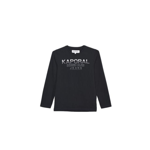 51e6f0446fe3b Kaporal 5 - Kaporal T-shirt Manches Longues Garçon Ronio Noir - Taille - 16