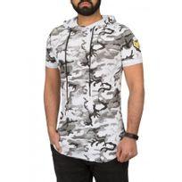 Beststyle - Tee shirt homme long derriere noir