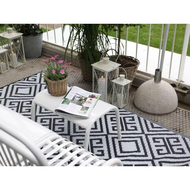 ESSCHERT DESIGN - Tapis de jardin réversible à motifs géométriques 120x186x0,3cm
